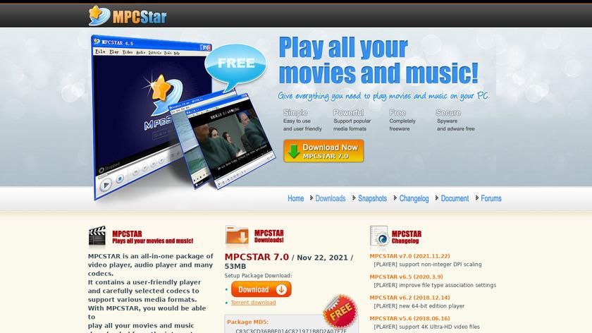 MPCSTAR Landing Page