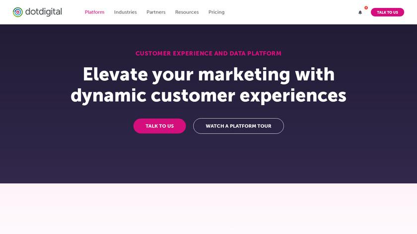 dotdigital Engagement Cloud Landing Page