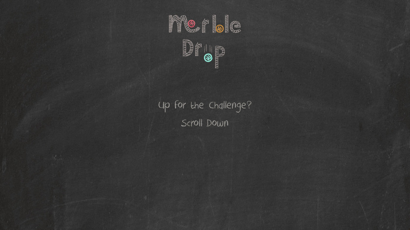 Marble Drop Landing Page