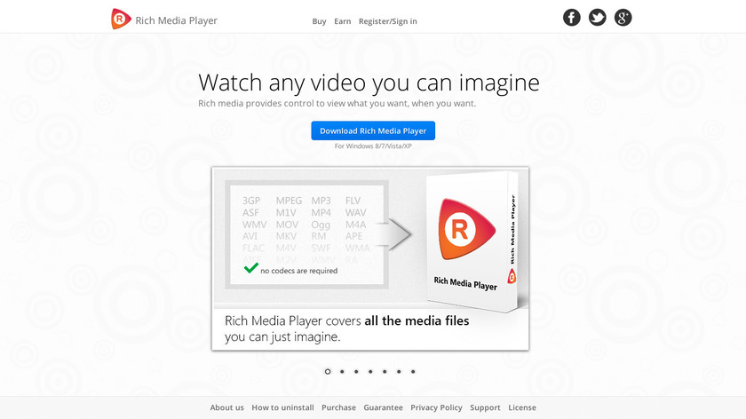 Rich Media Player Landing Page