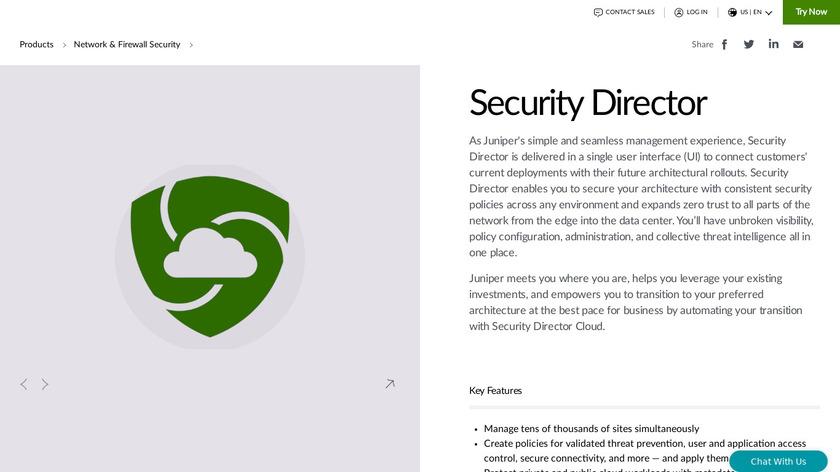 Junos Space Security Director Landing Page