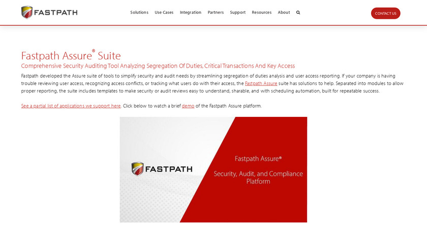Fastpath Assure Landing Page