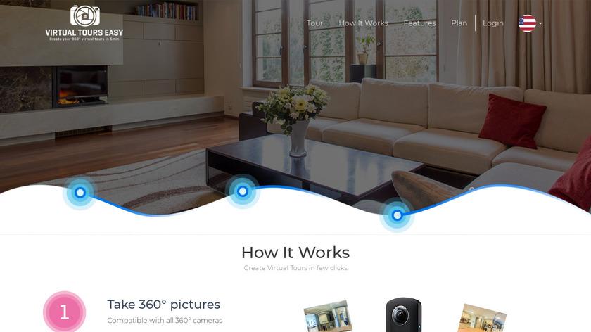 Real Estate Virtual Tours Creator Landing Page