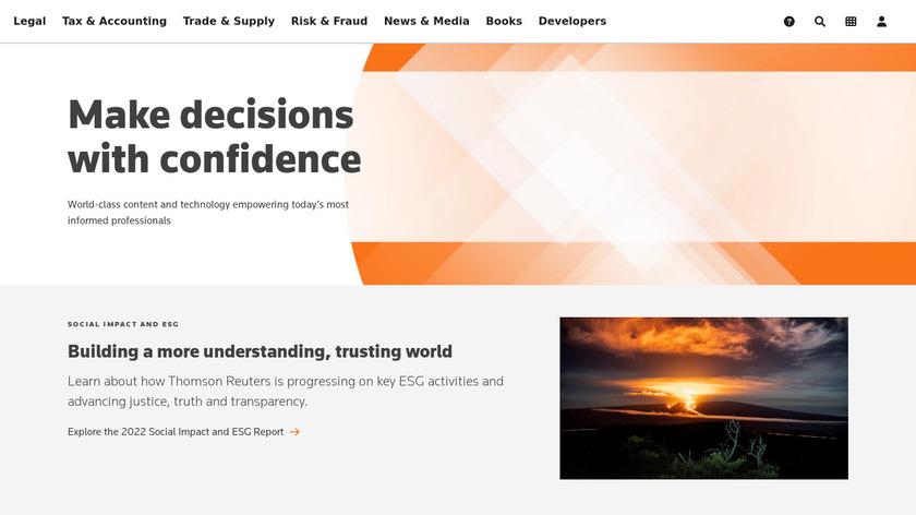 Thomson Reuters Landing Page