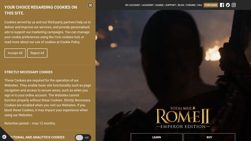 Total War: Rome II Landing Page