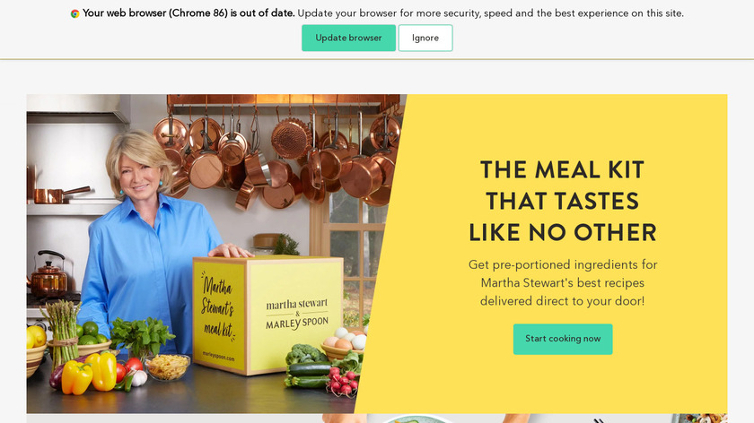 Marley Spoon Landing Page