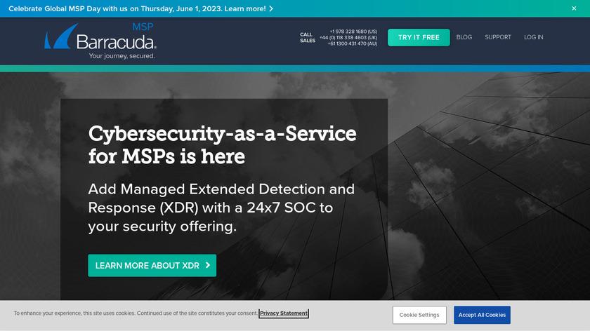 Barracuda MSP Landing Page