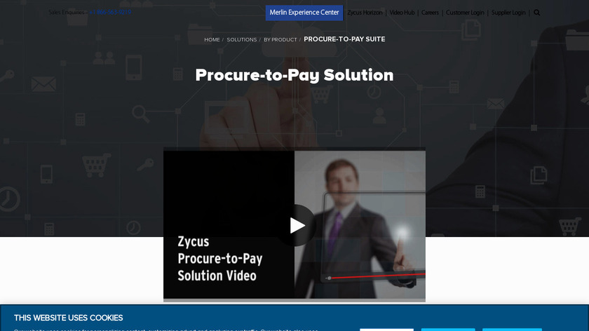 Zycus Procure-to-Pay Solution Landing Page