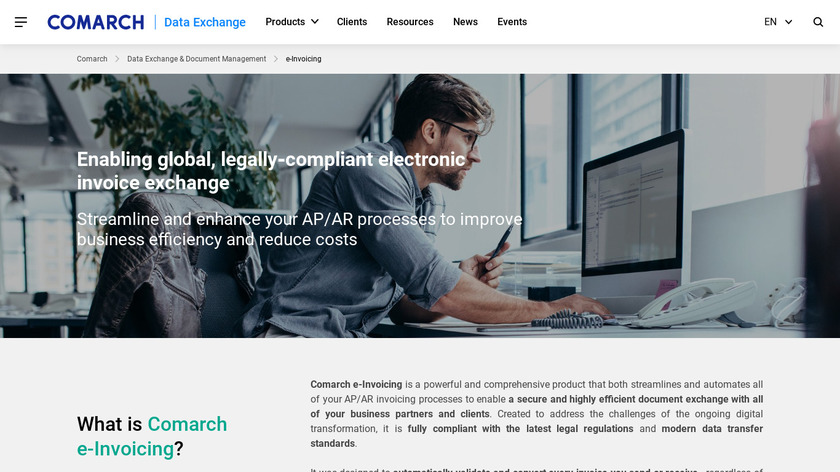 Comarch Procure-to-Pay Landing Page
