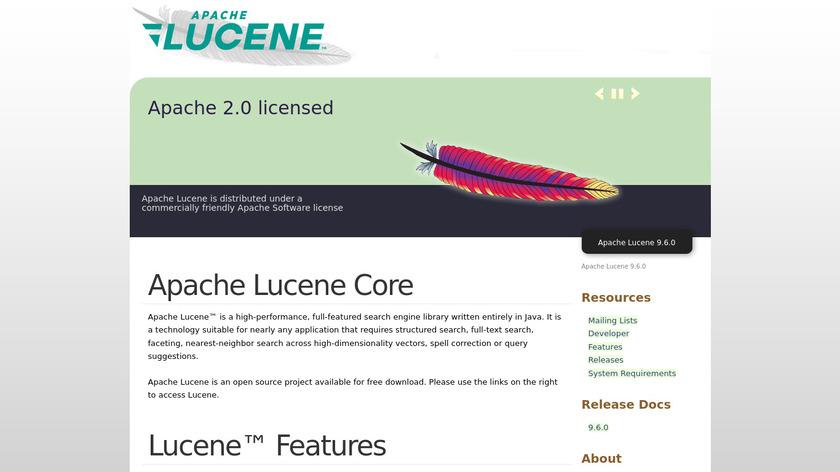 Apache Lucene Landing Page