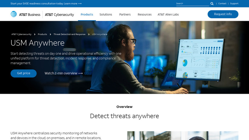 AlienVault USM (from AT&T Cybersecurity) Landing Page