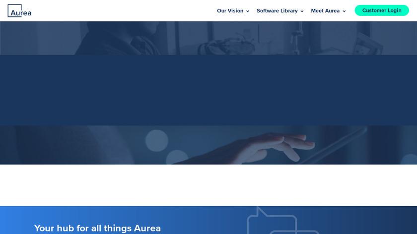 Aurea CX Monitor Landing Page