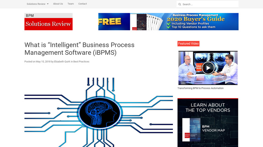 Intelligent BPM Suite Landing Page