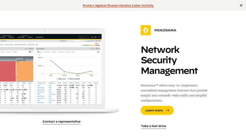 Palo Alto Networks Panorama Landing Page