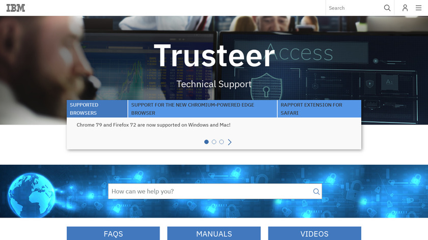 IBM Trusteer Landing Page