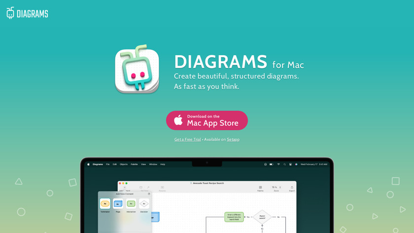 Diagrams for Mac Landing Page