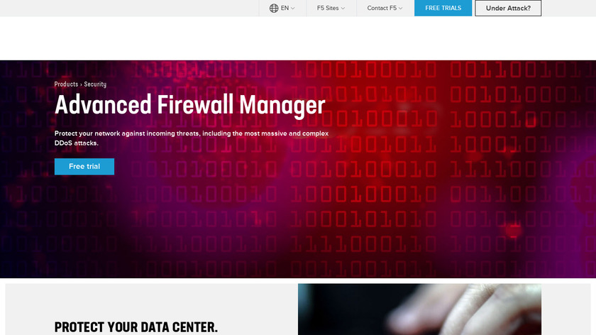 F5 Advanced Firewall Manager Landing Page