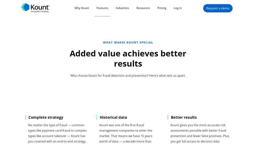 Kount Complete Landing Page