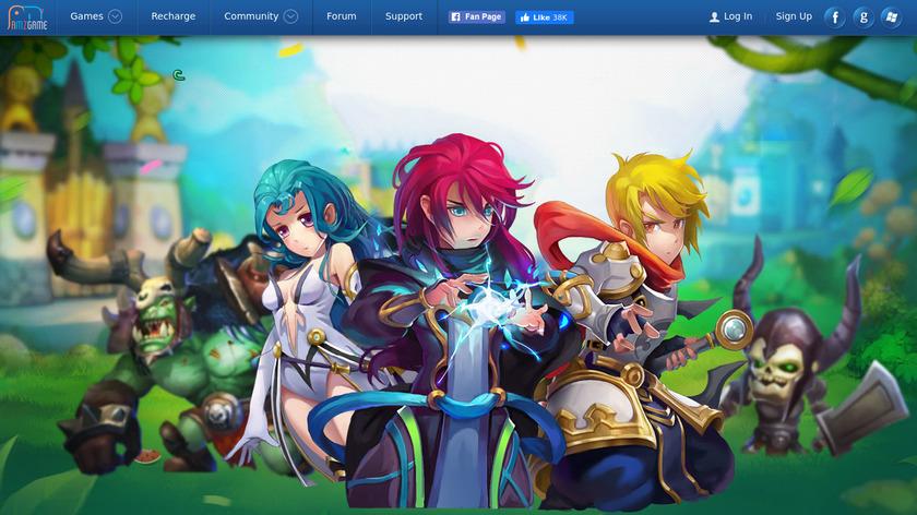 Clash of Avatars Landing Page