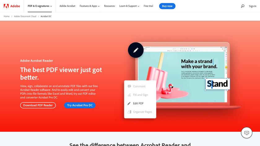 PDF Reader X Landing Page