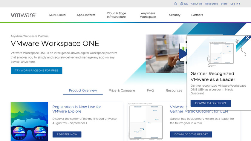 Workspace ONE Landing Page