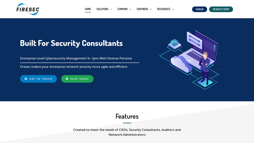 Firesec Landing Page