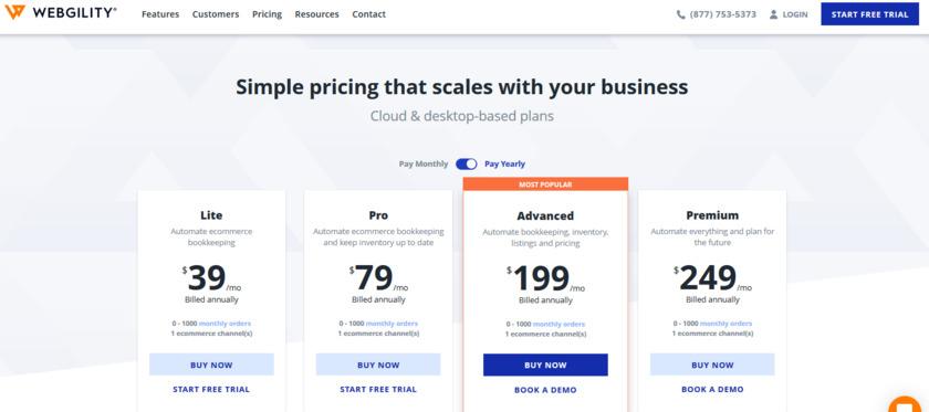 Webgility Pricing