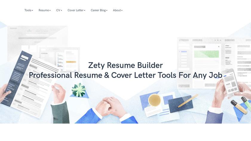 Zety Landing Page