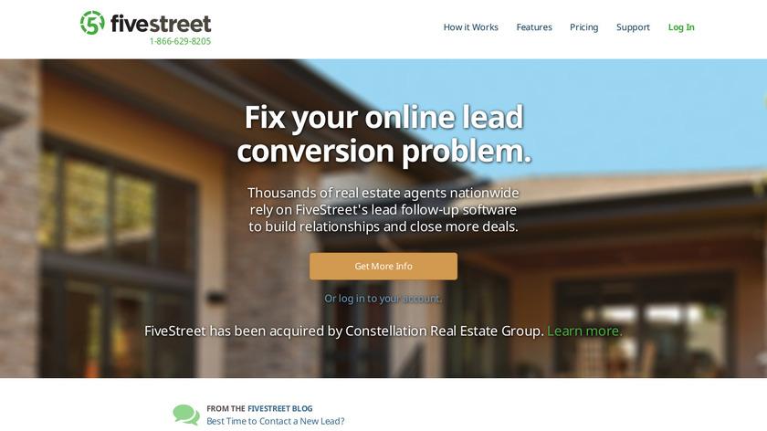 FiveStreet Landing Page