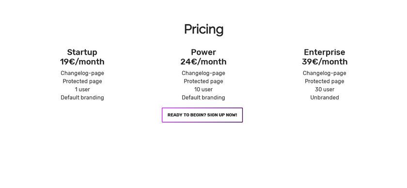 Releasebox.io Pricing