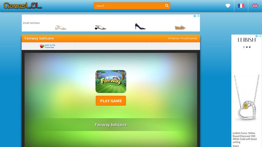 Fairway Solitaire Landing Page