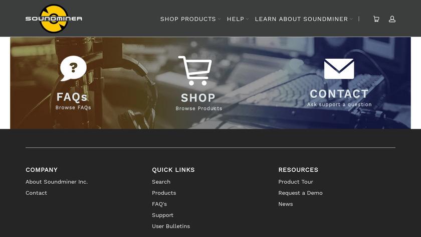 Soundminer Landing Page