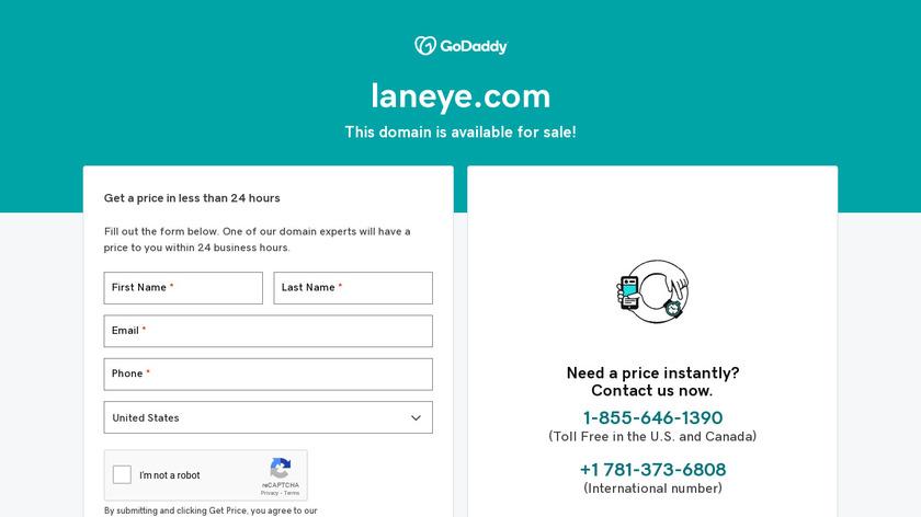 LANeye Landing Page