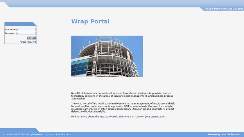 Wrap Portal Landing Page