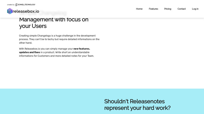 Releasebox.io Landing Page