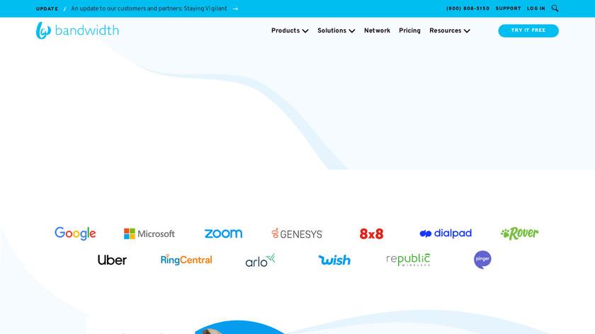 Bandwidth Landing Page