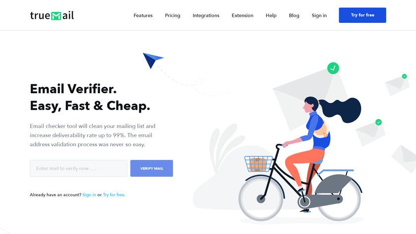 TrueMail.io Landing Page