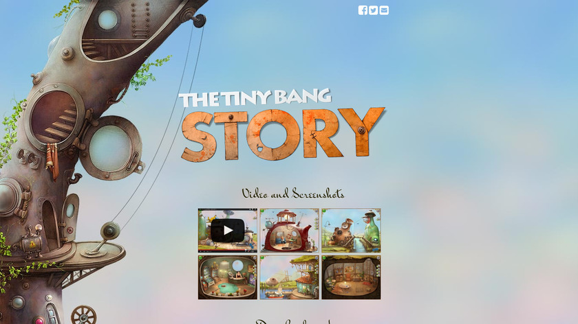 The Tiny Bang Story Landing Page