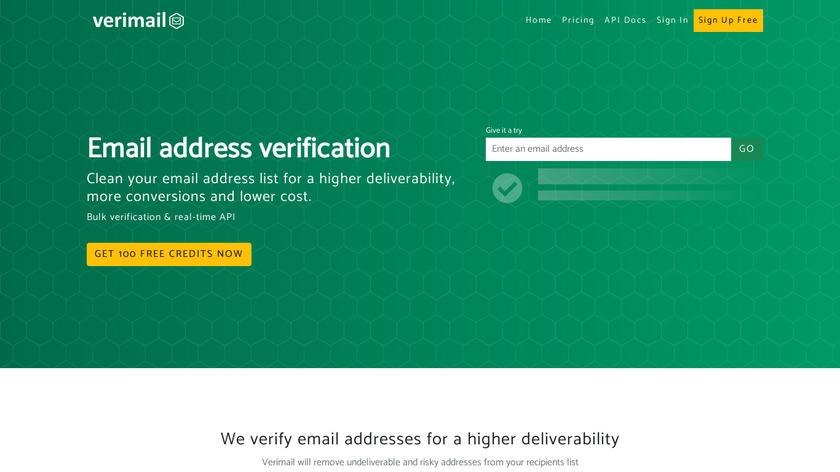 Verimail Landing Page