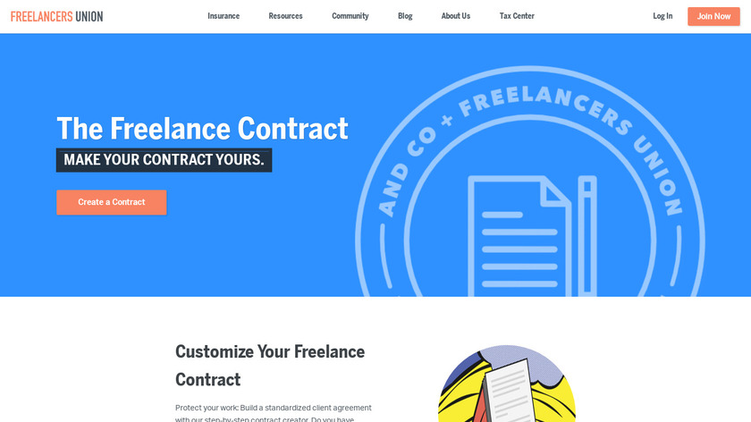 Contract Creator Landing Page