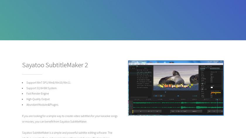Sayatoo KaraTitleMaker 2 Landing Page