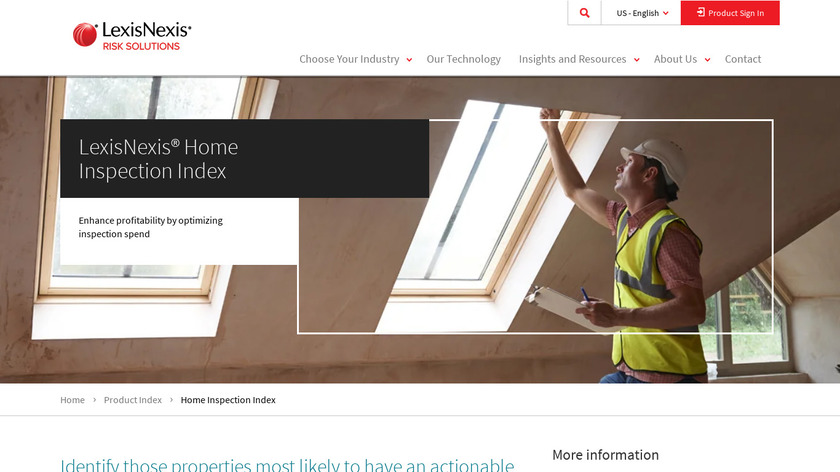 LexisNexis Home Inspection Index Landing Page
