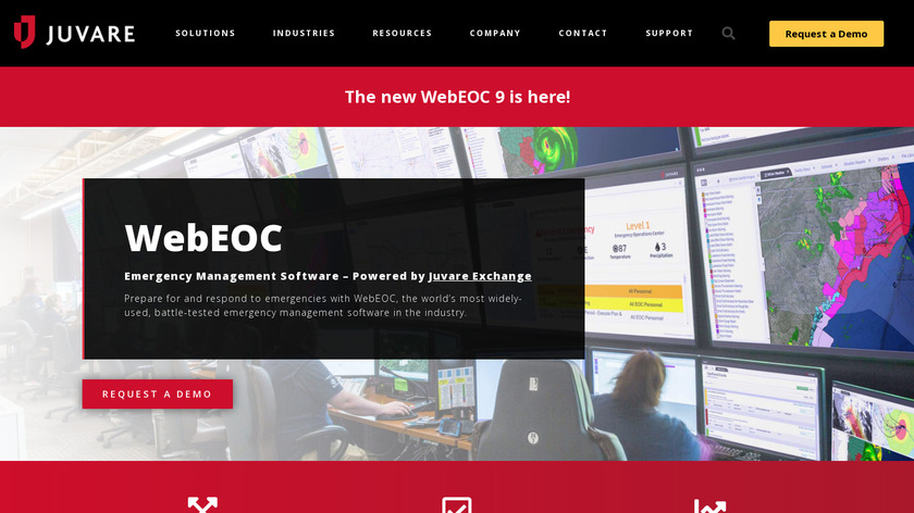 WebEOC Landing Page