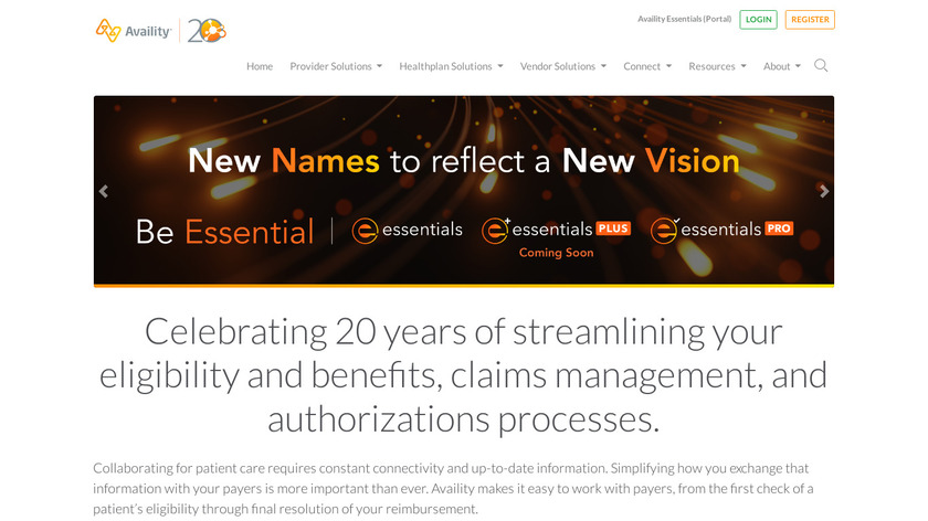 Availity Landing Page