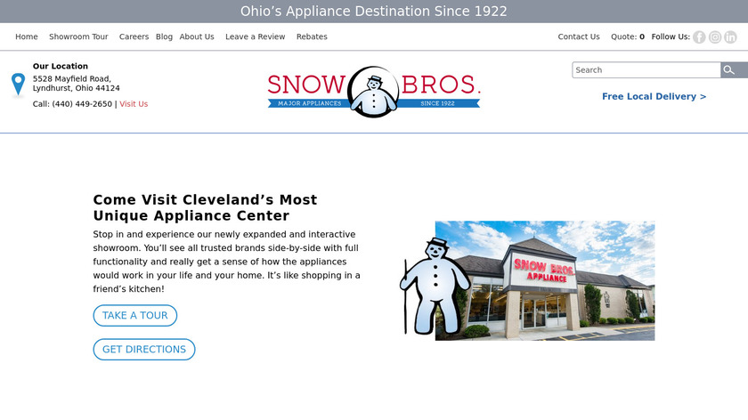 Snow Brothers Landing Page
