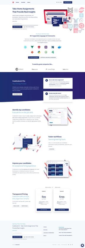 CodeSubmit Landing Page