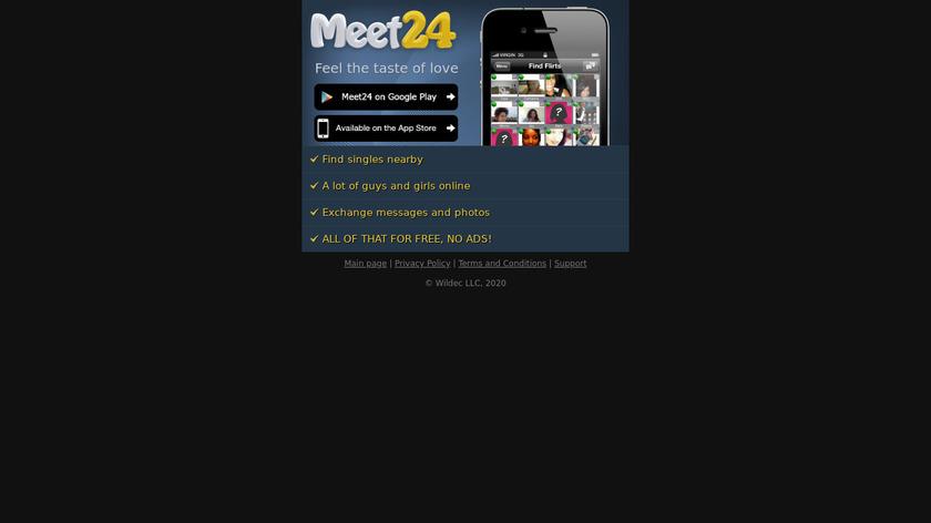 Meet24 Landing Page