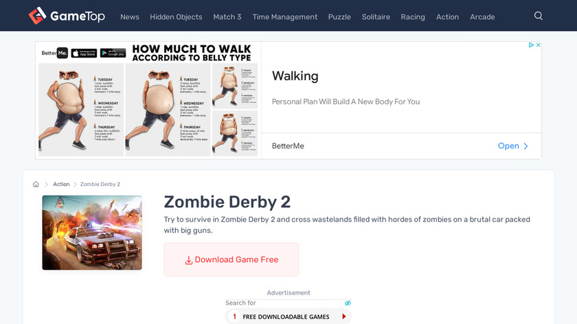 Zombie Derby 2 Landing Page