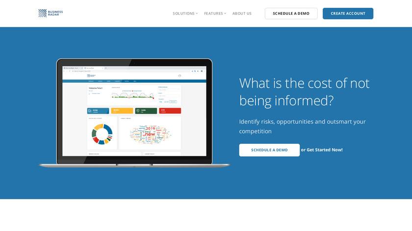 BusinessRadar Landing Page