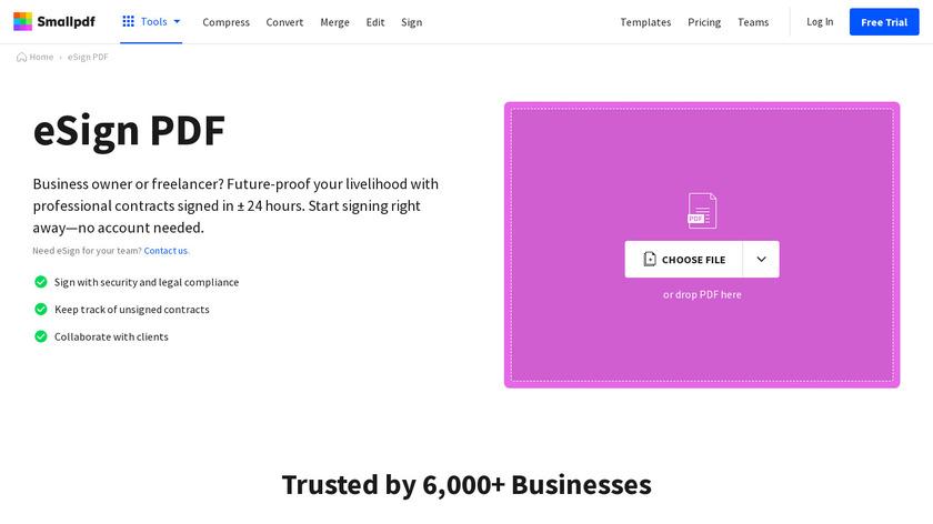 PDF Sign & Seal Landing Page